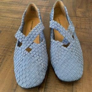 Light Blue Slip-On Shoes